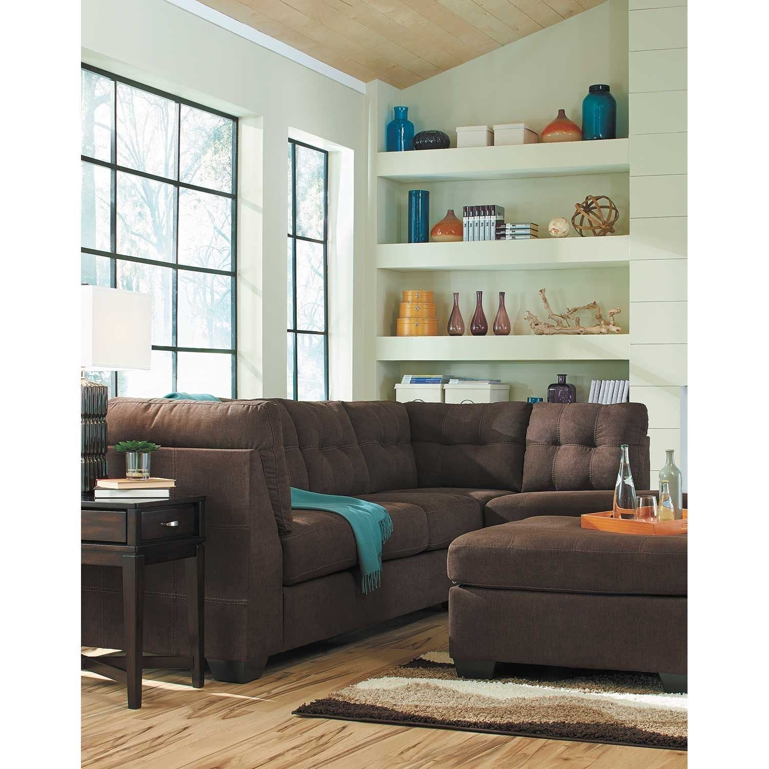 Maier Walnut 2 Piece Sectional With Laf Chaise | 4520116/67 | Ashley Intended For Arrowmask 2 Piece Sectionals With Sleeper & Left Facing Chaise (Image 16 of 25)
