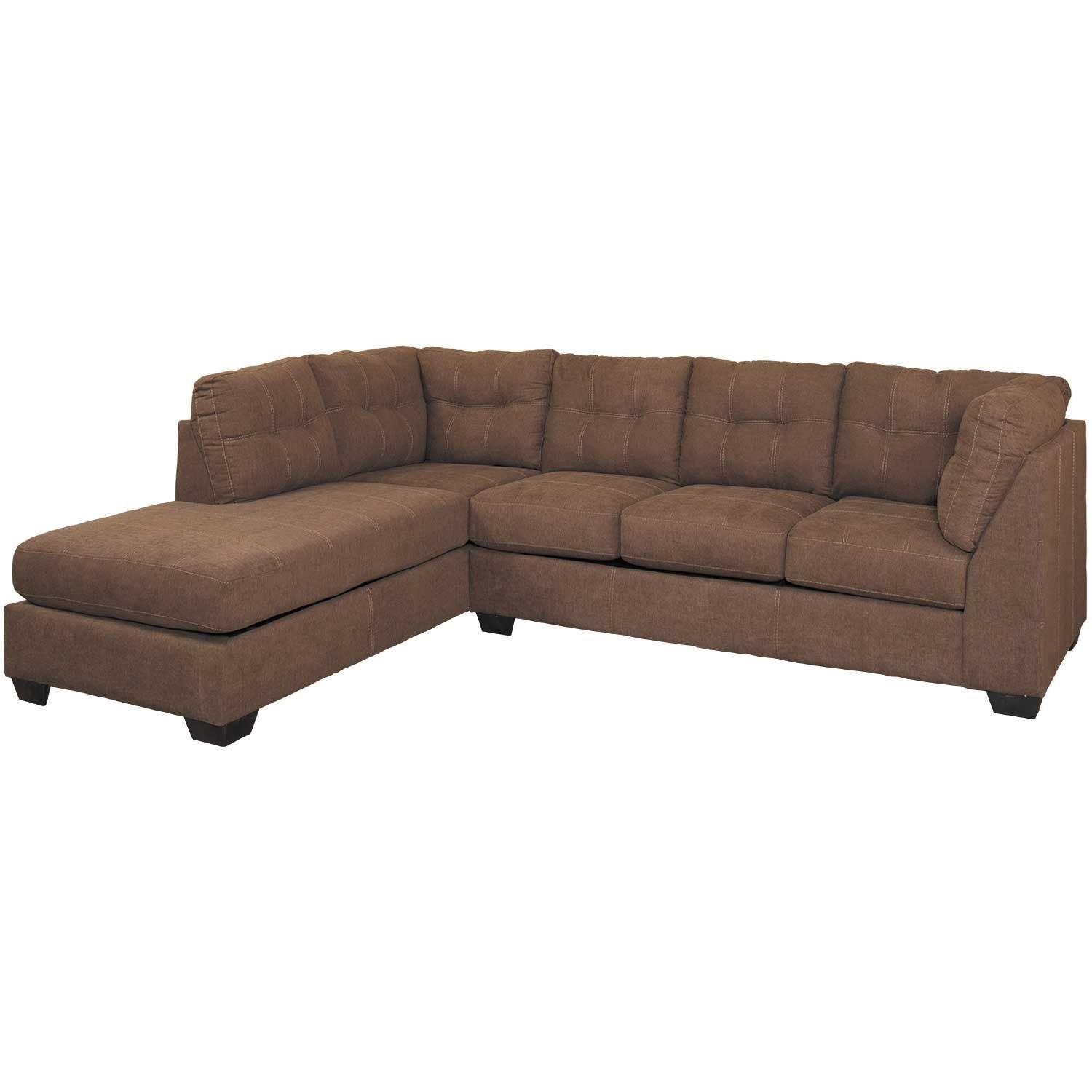 Maier Walnut 2 Piece Sectional With Laf Chaise | 4520116/67 | Ashley Throughout Arrowmask 2 Piece Sectionals With Sleeper & Right Facing Chaise (Image 16 of 25)