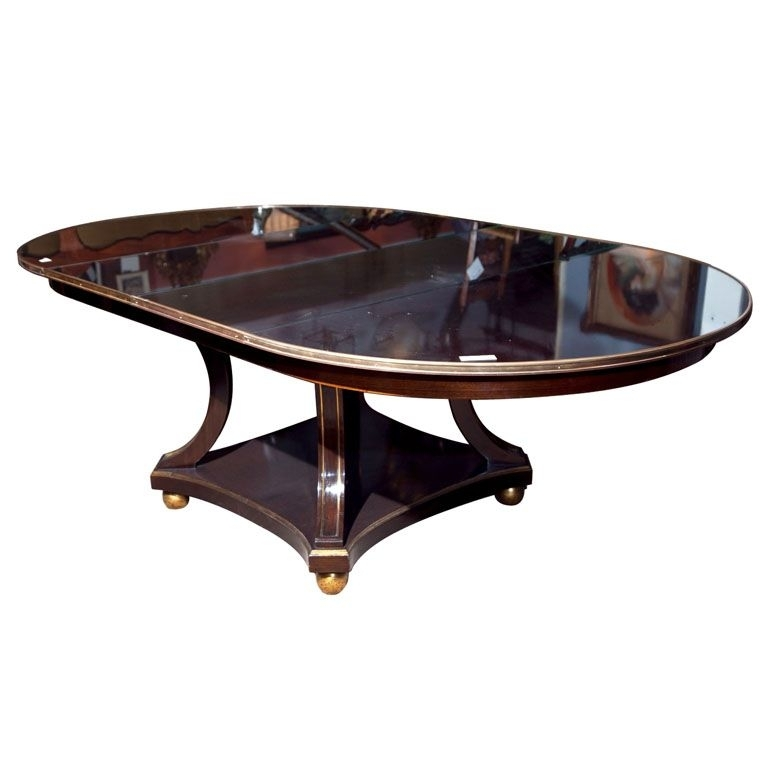 Maison Jansen Mahogany Circular Pedestal Dining Table | Dining Within Jensen 5 Piece Counter Sets (Image 21 of 25)