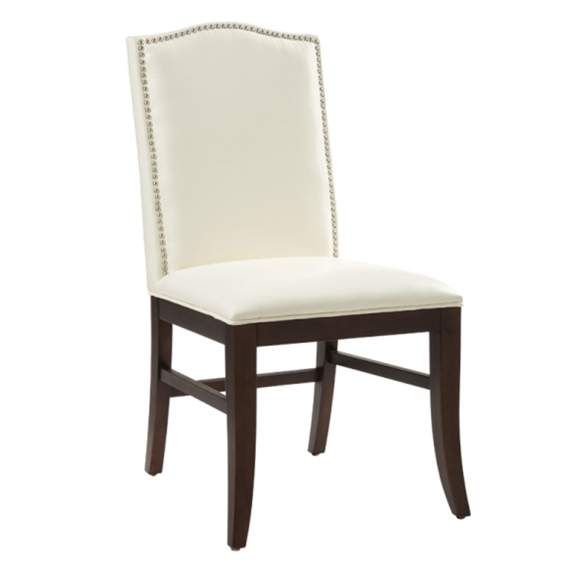 Maison Leather Dining Chair With Brown Legs – Ivory | Leather Chairs Within Ivory Leather Dining Chairs (View 12 of 25)