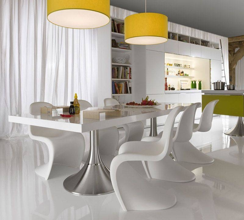 Make Your Dining Space Modern With The Contemporary Dining Room Sets Inside Modern Dining Tables And Chairs (Image 11 of 25)