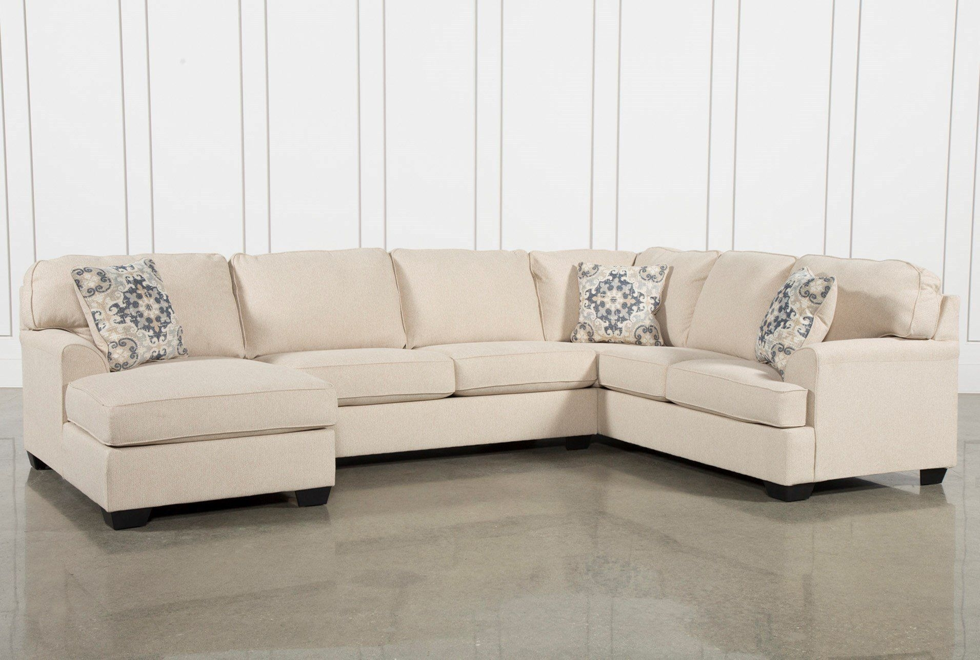 Malbry Point 3 Piece Sectional W/laf Chaise | Tempe Condo For Blaine 4 Piece Sectionals (Image 12 of 25)