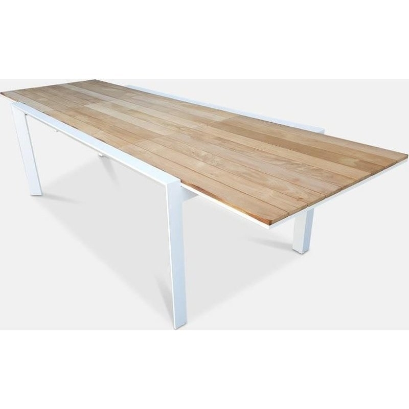 Maldives Teak Top Extending Outdoor Dining Table 3M | Buy Outdoor Intended For Extending Outdoor Dining Tables (Image 17 of 25)