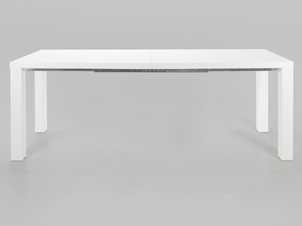 Malibu White High Gloss Extending Dining Table Inside High Gloss White Extending Dining Tables (Image 11 of 25)