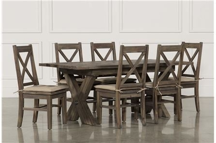 Featured Image of Caira Black 7 Piece Dining Sets With Upholstered Side Chairs