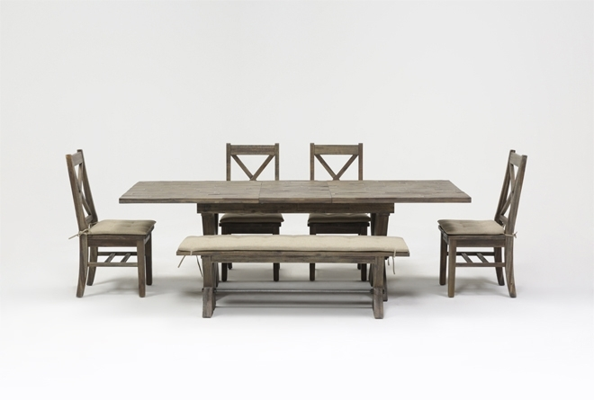 Mallard 6 Piece Extension Dining Set | Living Spaces Inside Mallard Extension Dining Tables (View 9 of 25)