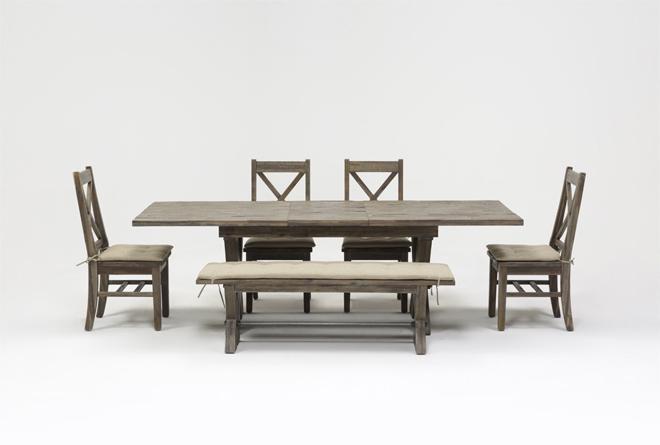 Mallard 6 Piece Extension Dining Set | Living Spaces Throughout Mallard 6 Piece Extension Dining Sets (Image 22 of 25)