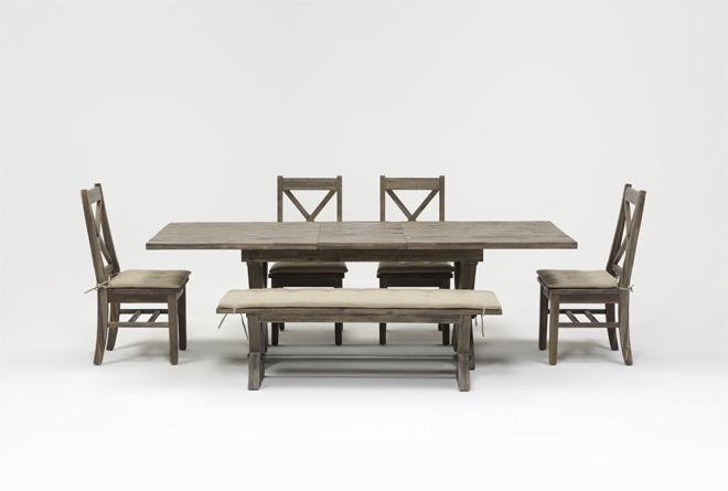 Mallard 6 Piece Extension Dining Set | Living Spaces With Regard To Mallard 7 Piece Extension Dining Sets (View 15 of 25)