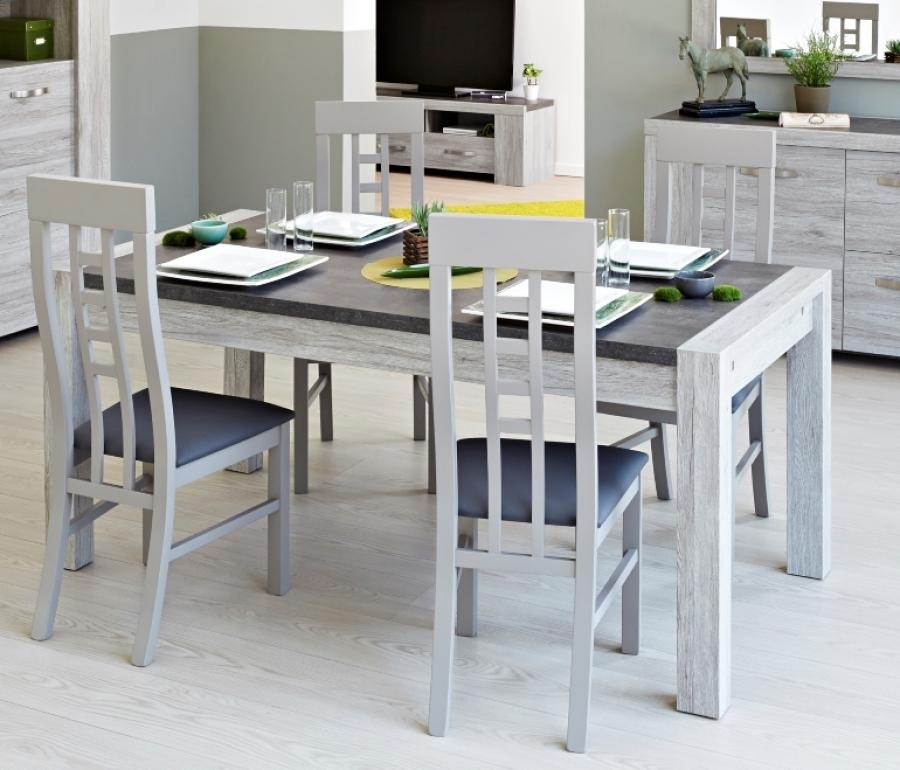 Malmo, Contemporary Extending Dining Table In Portofino Grey Oak And Inside Grey Dining Tables (Image 17 of 25)
