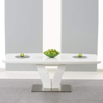 Malta High Gloss White Extending Dining Table – Robson Furniture Pertaining To High Gloss White Extending Dining Tables (Image 12 of 25)