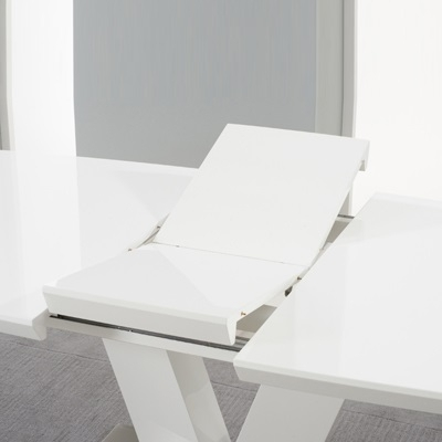Malta High Gloss White Extending Dining Table – Robson Furniture Within White Extending Dining Tables (Image 14 of 25)