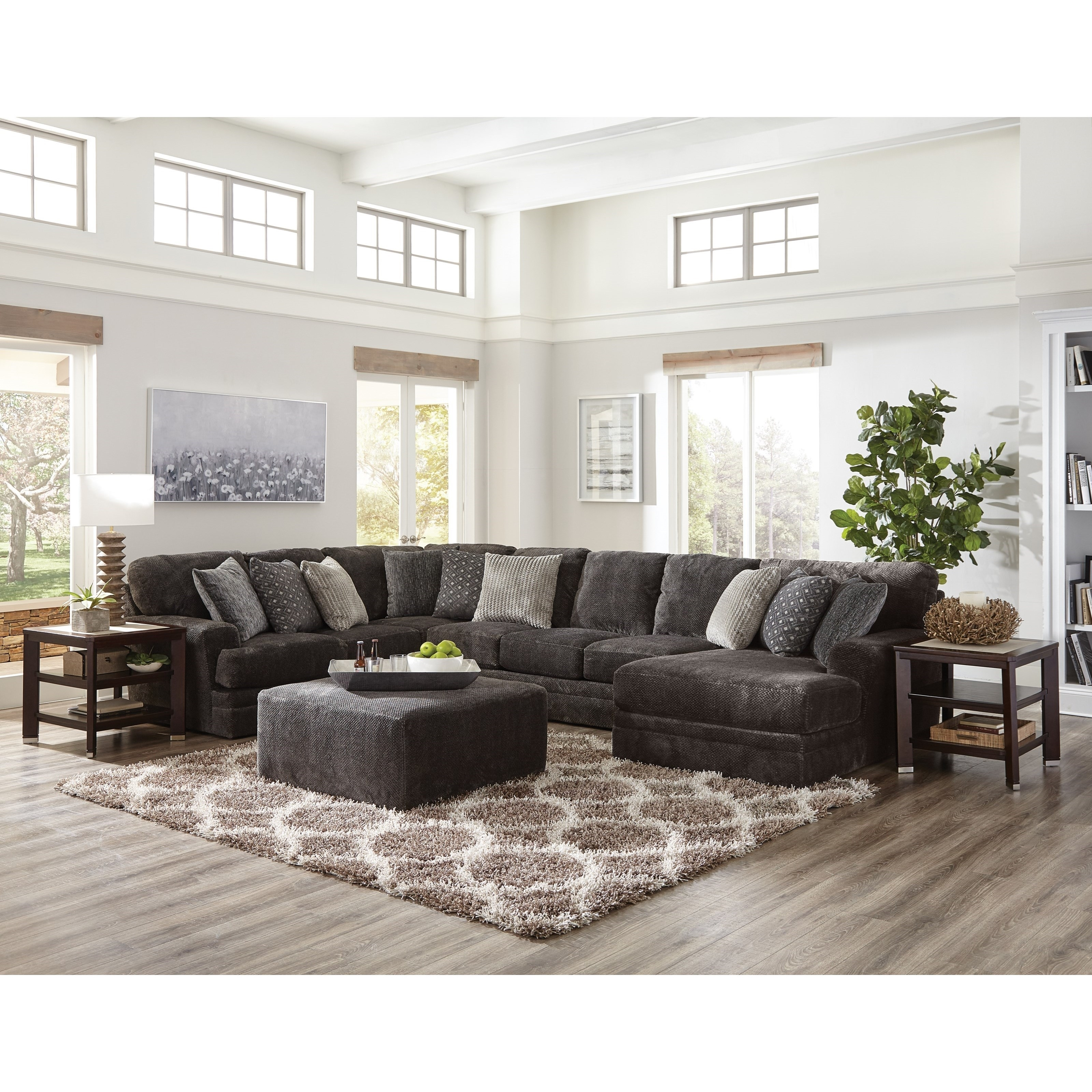 Mammoth Three Piece Sectional Sofa With Chaise | Ruby Gordon Home Inside Jackson 6 Piece Power Reclining Sectionals (Image 18 of 25)