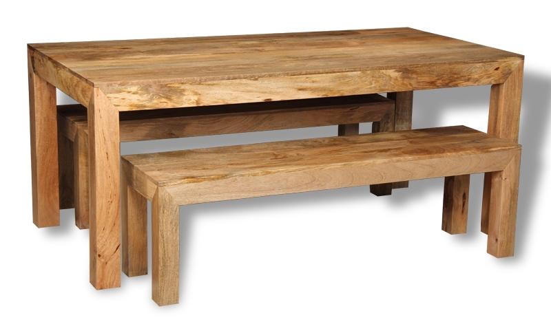 Mango 180Cm Dining Table & 2 Benches [H12L&h47L] – £449.95 : Trade Within Dining Tables And 2 Benches (Photo 12 of 25)