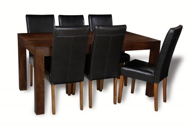 Mango 180Cm Dining Table & 6 Barcelona Chairs | Trade Furniture Company™ Inside 180Cm Dining Tables (Image 15 of 25)