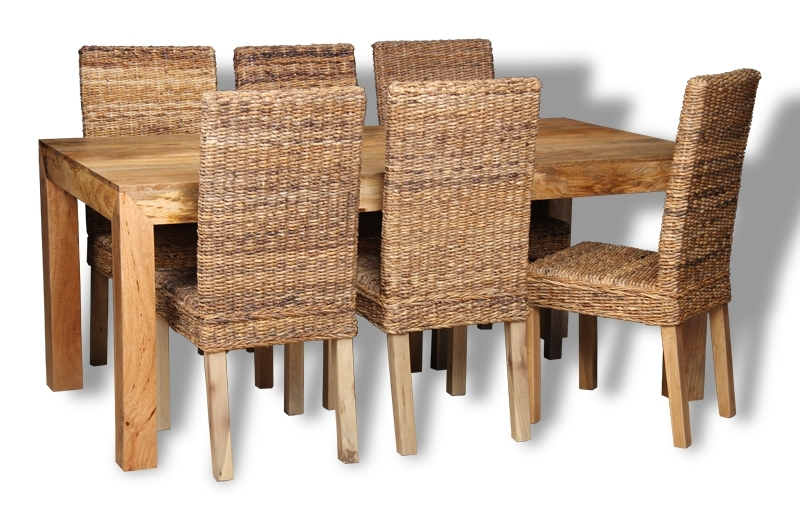 Mango 180Cm Dining Table & 6 Rattan Chairs | Trade Furniture Company™ With 180Cm Dining Tables (Image 16 of 25)