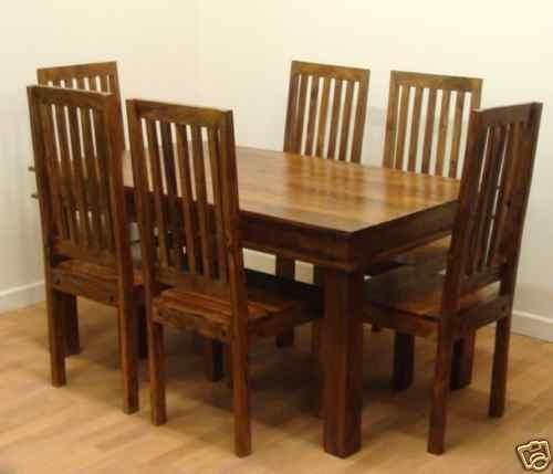 Mango Wood Dining Table Sets Dark Wood Dining Table Sets Regarding Dark Wooden Dining Tables (Image 22 of 25)