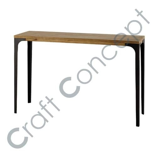 Mango Wood & Iron Dining Table – Mango Wood & Iron Dining Table Within Mango Wood/iron Dining Tables (Image 11 of 25)