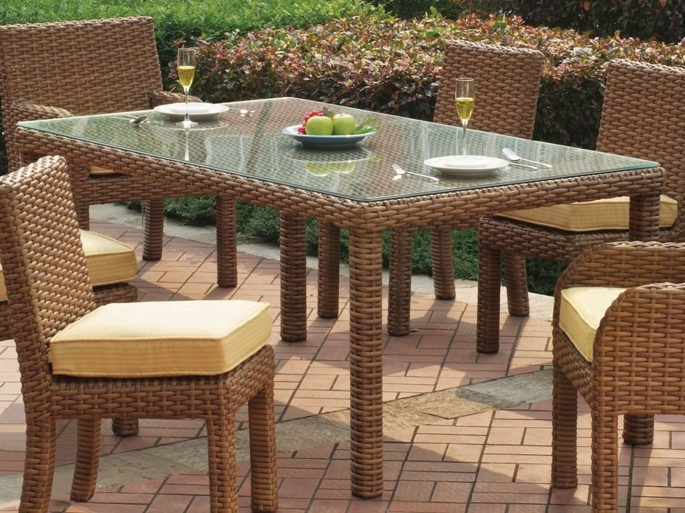 Manificent Decoration Wicker Dining Table Wicker Dining Table And Regarding Rattan Dining Tables (Image 12 of 25)