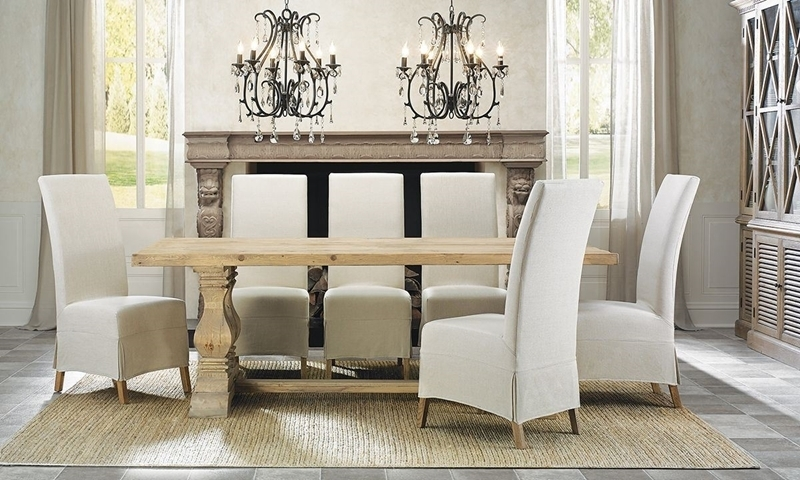 Manor House Reclaimed Pine & Elm Trestle Table | Haynes Furniture For Natural Wood & Recycled Elm 87 Inch Dining Tables (Image 17 of 25)