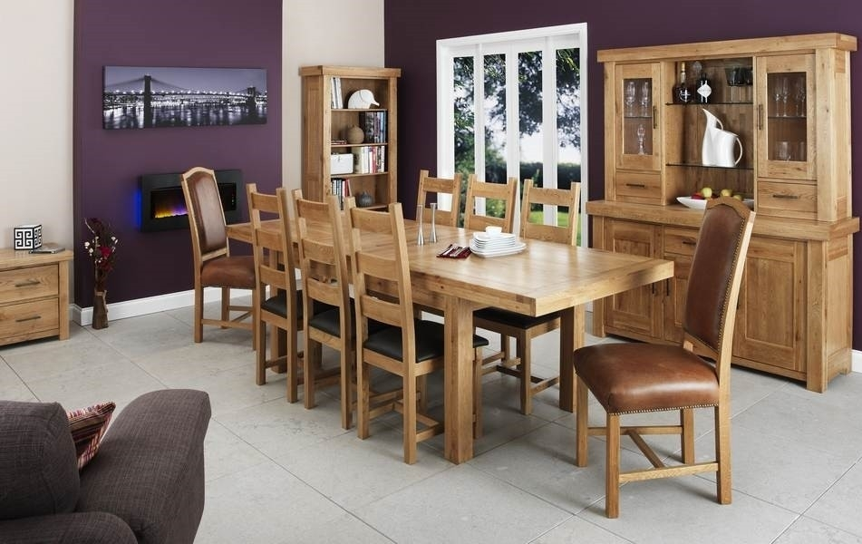 Manor Solid Light Oak Extending Dining Table And 6 Chairs Set | Oak For Light Oak Dining Tables And 6 Chairs (View 25 of 25)