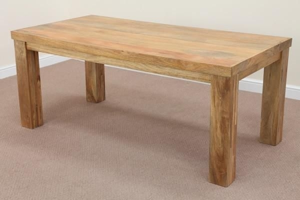 Mantis Light Natural Solid Mango 6Ft X 3Ft Dining Table | Dining Throughout 3Ft Dining Tables (View 9 of 25)