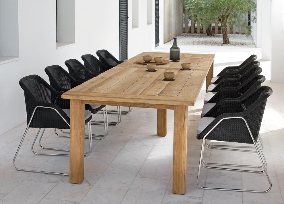 Manutti Asti Teak Garden Dining Table – Modern Garden Tables For Garden Dining Tables (View 17 of 25)