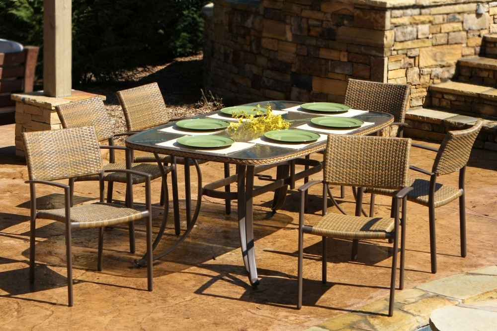 Maracay 7Pc Outdoor Dining Set – Tortuga Outdoor Of Ga With Regard To Outdoor Tortuga Dining Tables (Image 4 of 25)