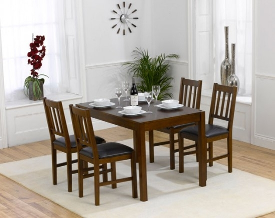 Marbella 120Cm Dining Table + 4 Dining Chairs Set | Morale Home Within Marbella Dining Tables (View 23 of 25)