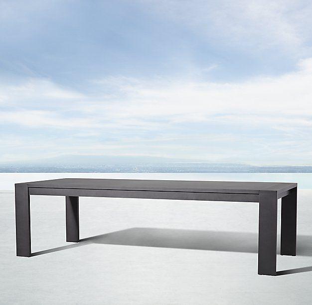 Marbella Aluminum Rectangular Dining Table | Ezr – Outdoor Inside Marbella Dining Tables (View 15 of 25)