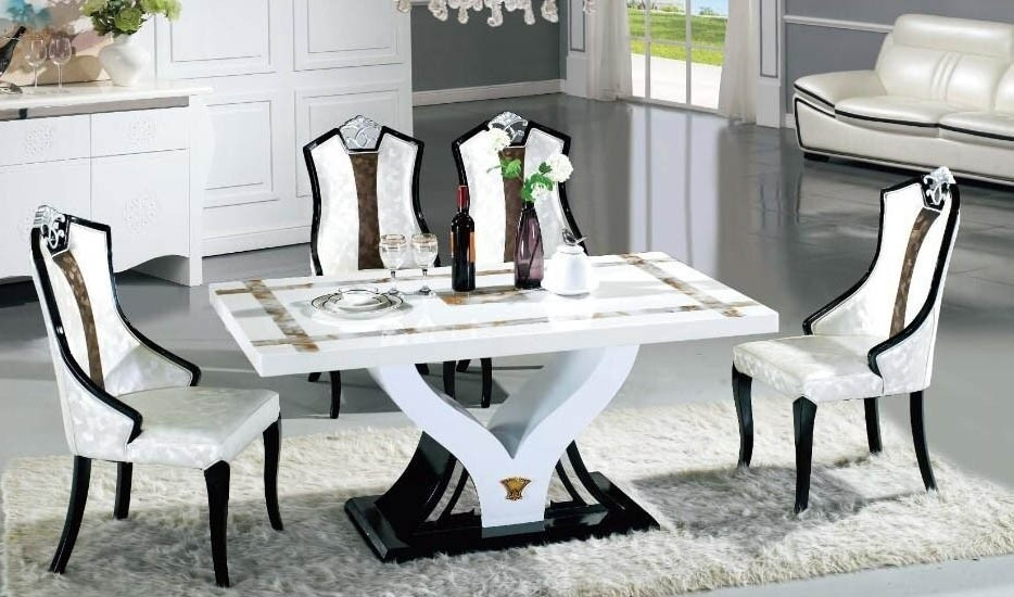 Marble Dining Dining Table Set In Sydney Warehouse In Marble Dining Chairs (View 14 of 25)