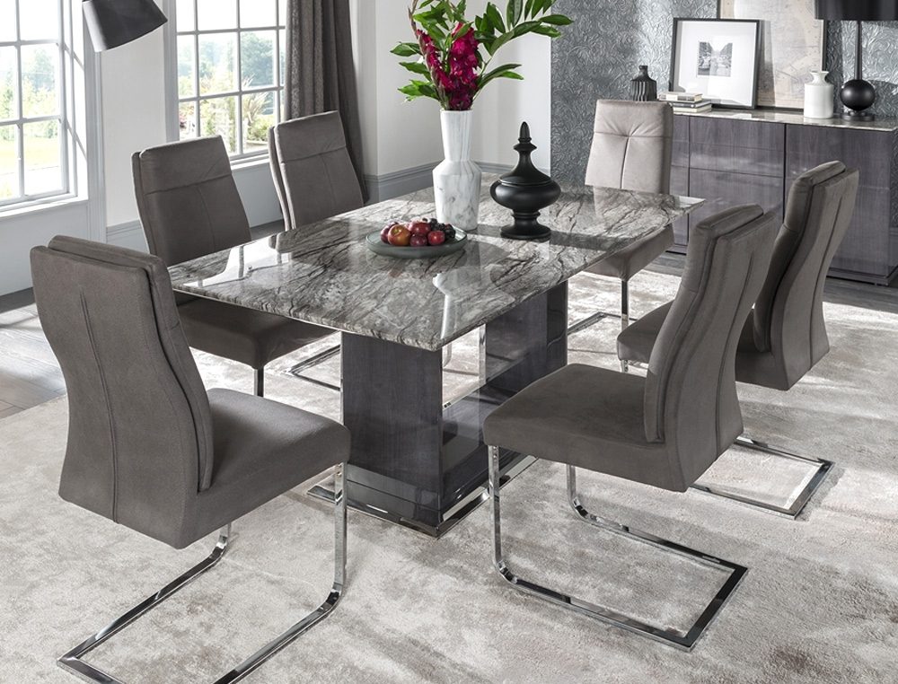 Marble Dining Set Donatella | Tadhg O'connor Furniture In Marble Dining Chairs (Image 17 of 25)