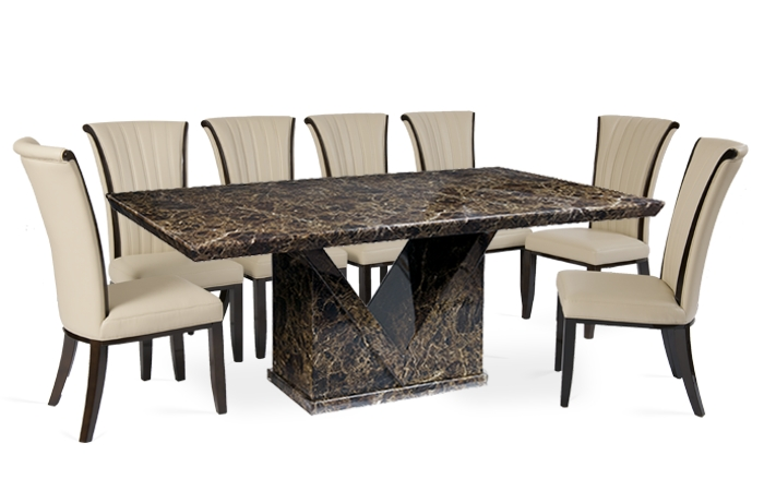 Marble Dining Set   Product Tags   Thomas Brown Furnishings Intended For Dining Tables With 8 Chairs (Image 20 of 25)
