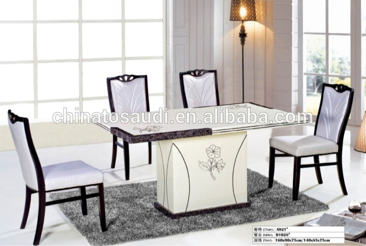 Marble Dining Set,dining Table And Chairs In Dining Room – Buy With Regard To Marble Dining Tables Sets (Image 16 of 25)