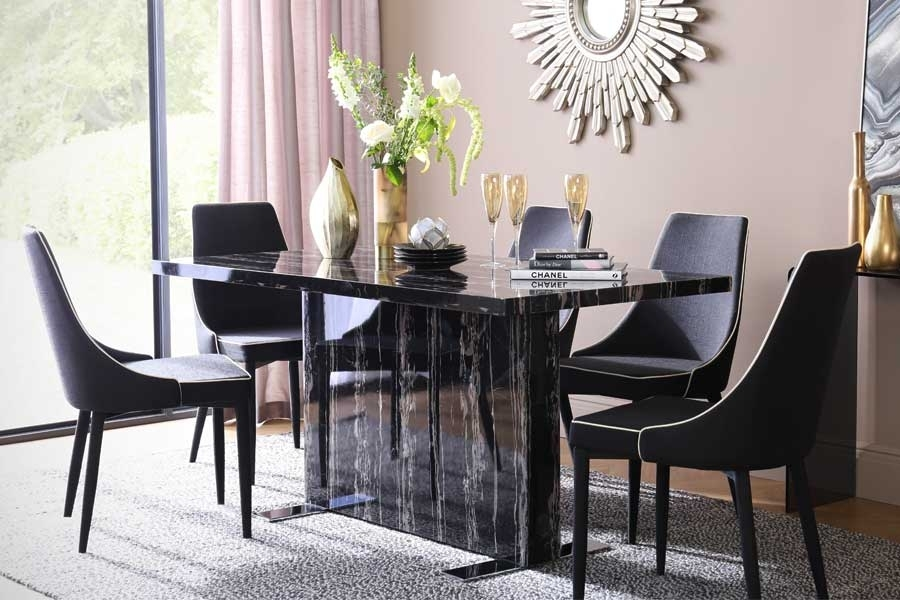 Marble Dining Sets | Furniture Choice Pertaining To Marble Effect Dining Tables And Chairs (View 8 of 25)