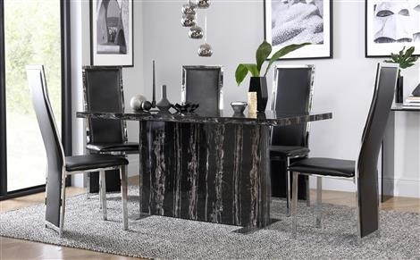 Marble Dining Sets | Furniture Choice Within Marble Effect Dining Tables And Chairs (View 9 of 25)