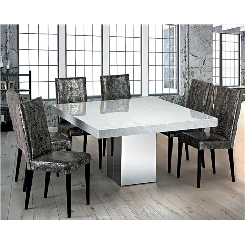 Marble Dining Sets In Marble Dining Chairs (View 7 of 25)