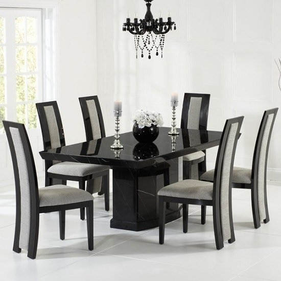 Marble Dining Table And 8 Chairs Uk | Furniture In Fashion Within Marble Dining Tables Sets (Image 18 of 25)