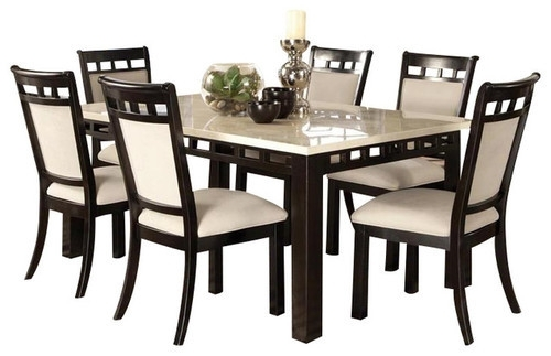 Marble Top Dining Table Set, Italian Dining Table – Furniture Pride Regarding Dining Table Sets (Image 20 of 25)