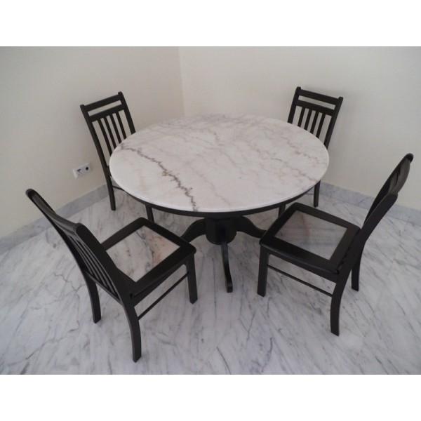 Marble Top Table For Marble Dining Chairs (Image 22 of 25)