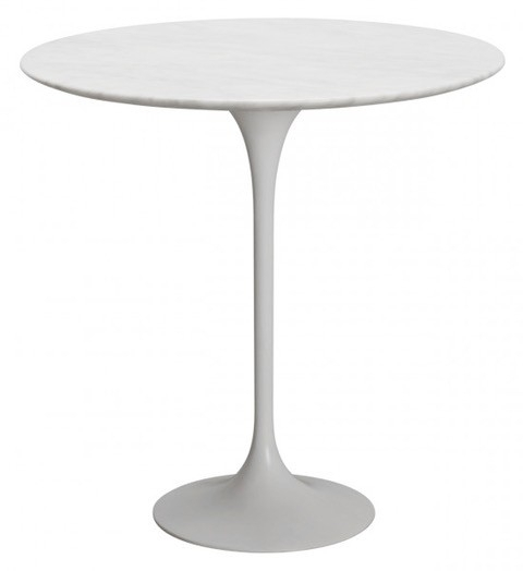 Marble Tulip Side Table White Throughout Helms 5 Piece Round Dining Sets With Side Chairs (Image 12 of 25)