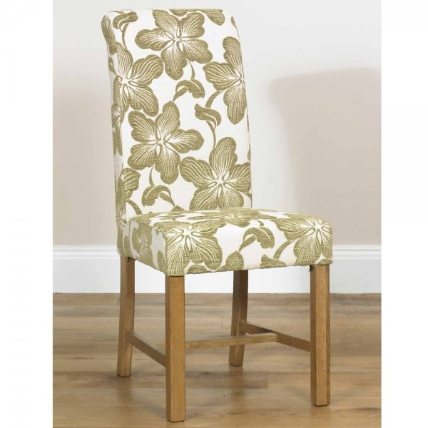 Marco Floral Dining Chair | Fabric Dining Chairs & Benches With Fabric Dining Chairs (Image 18 of 25)