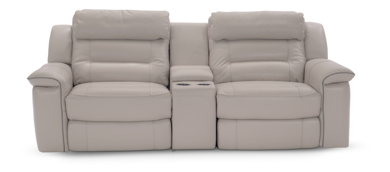 Marcus 3 Piece Leather Power Reclining Home | Hom Furniture In Marcus Grey 6 Piece Sectionals With  Power Headrest & Usb (Image 14 of 25)