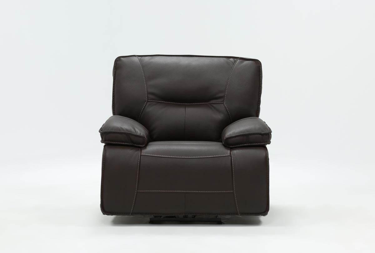 Marcus Chocolate Power Recliner With Power Headrest And Usb | Living Intended For Marcus Chocolate 6 Piece Sectionals With Power Headrest And Usb (Image 12 of 25)