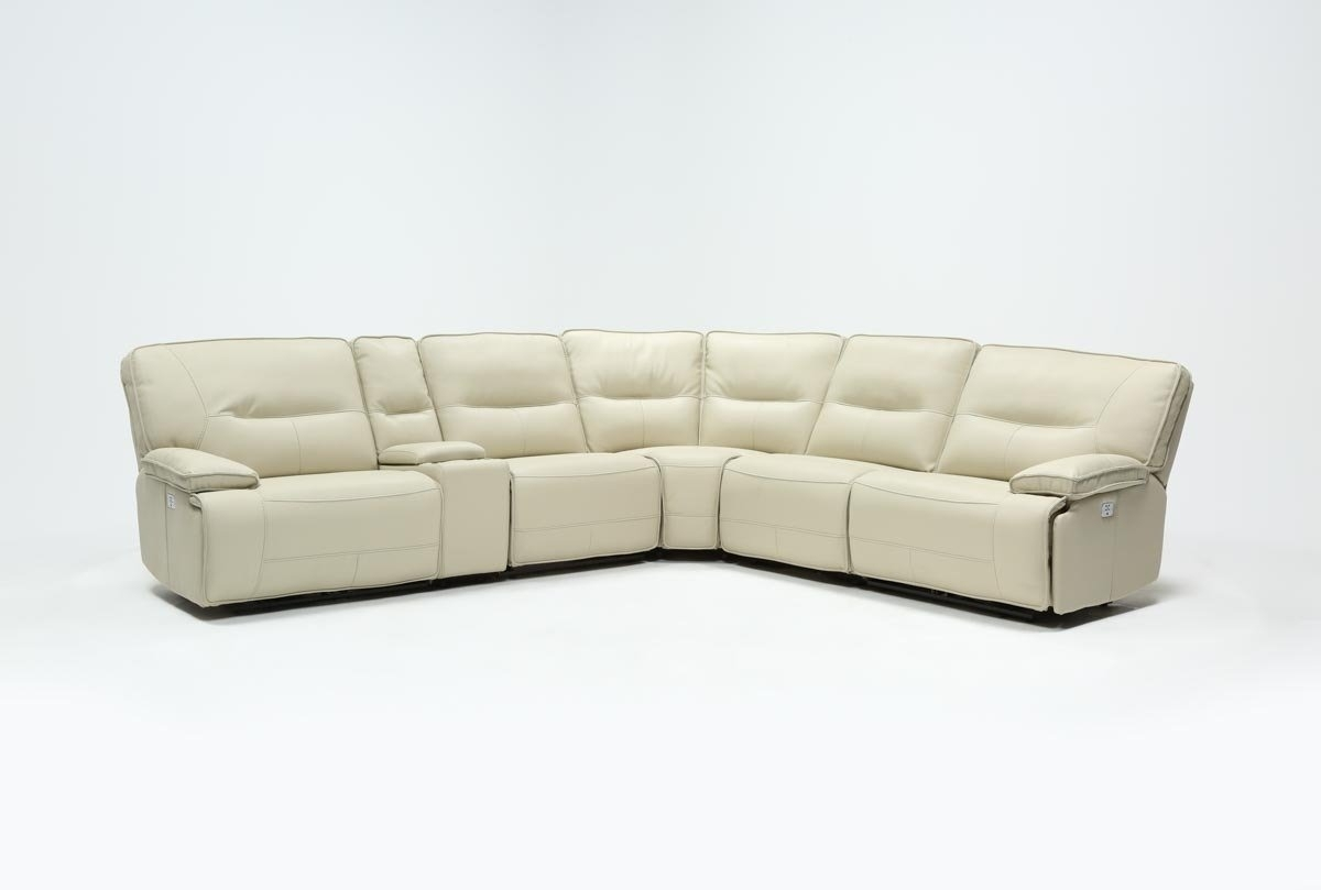 Featured Image of Marcus Oyster 6 Piece Sectionals With Power Headrest And Usb