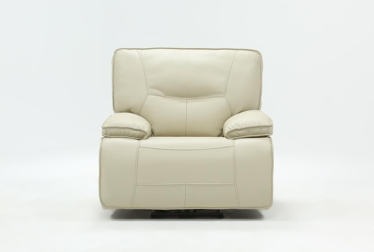 Marcus Oyster Power Recliner W/power Headrest And Usb | Living Spaces Within Marcus Oyster 6 Piece Sectionals With Power Headrest And Usb (View 3 of 25)