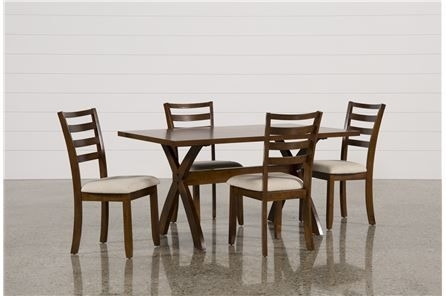 Featured Image of Palazzo 6 Piece Dining Set With Mindy Slipcovered Side Chairs
