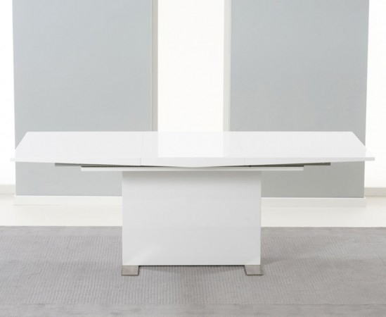 Marila 150Cm White High Gloss Extending Dining Table | Morale Home Throughout High Gloss White Extending Dining Tables (Image 13 of 25)