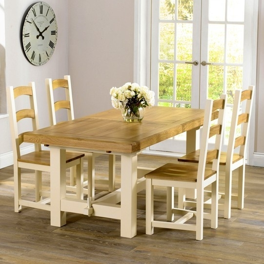 Marino Cream & Oak – Cream & Oak Furniture – Furniture Shopping Regarding Cream And Oak Dining Tables (Image 15 of 25)
