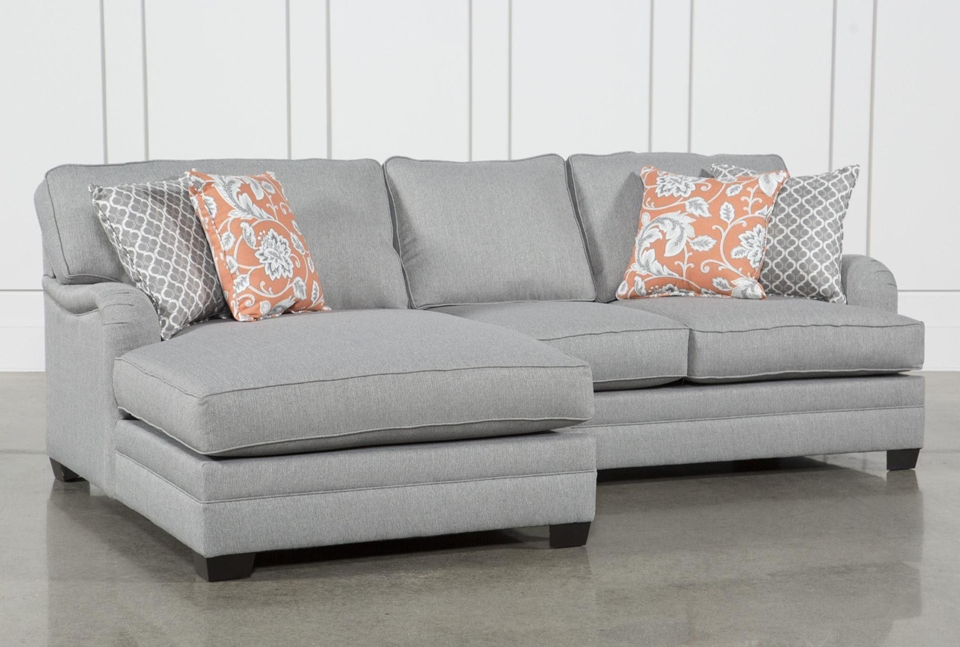 Marissa 2 Piece Sectional W/laf Chaise, Grey, Sofas In Mcculla Sofa Sectionals With Reversible Chaise (Image 12 of 25)