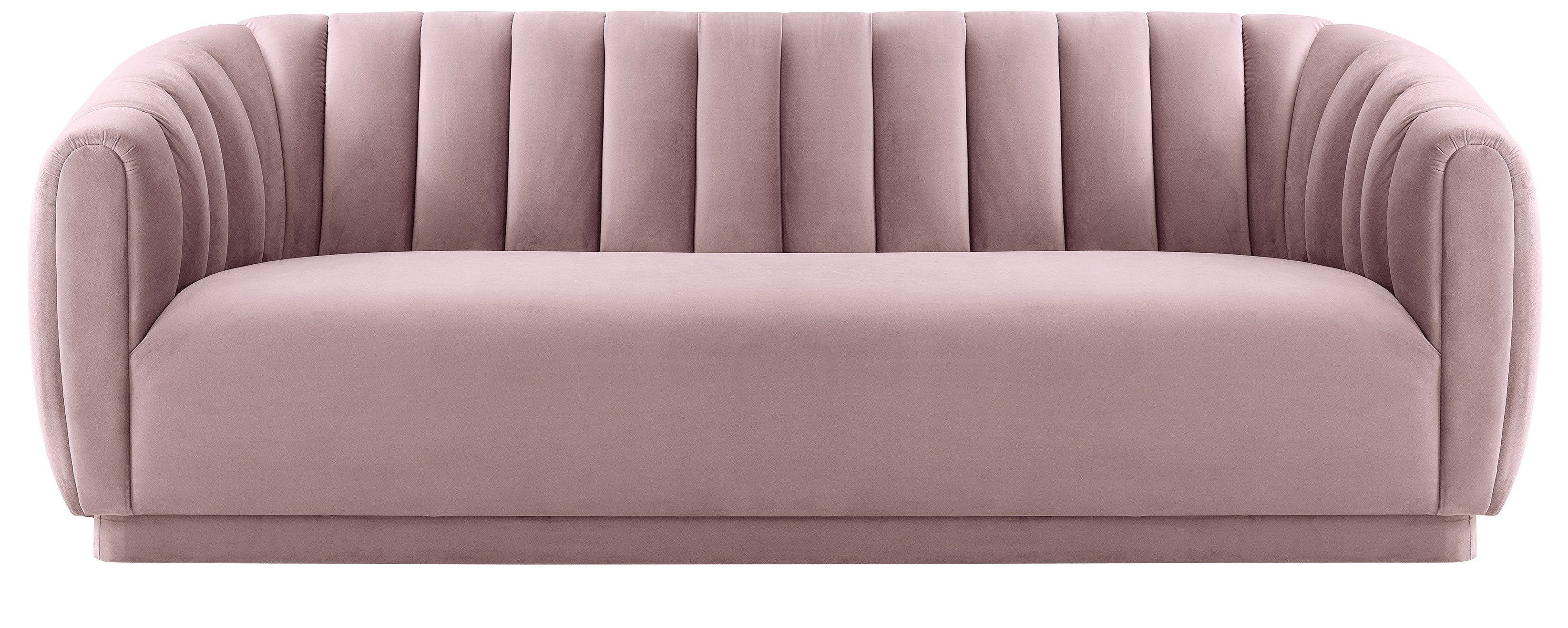 Marissa Velvet Sofa, Blush – Velvet – Trends – Furniture Within Marissa Ii 3 Piece Sectionals (Image 11 of 25)